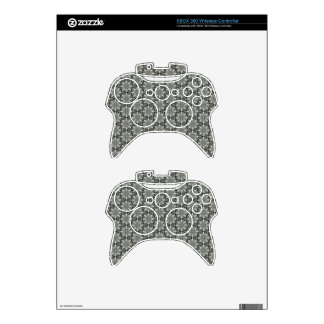 Classy Grey Blossoms Xbox 360 Controller Decal