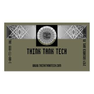 Classy Grey Technology Eye-Catching Tech Biz Business Card