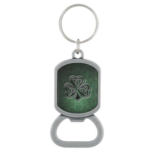 classy grundge irish lucky shamrock bottle opener zazzle. Black Bedroom Furniture Sets. Home Design Ideas