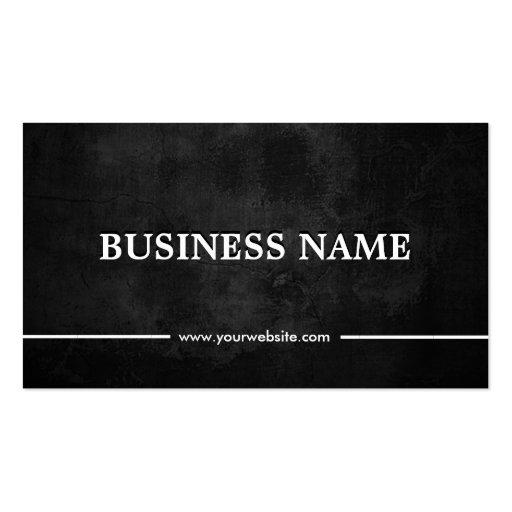 Classy Grunge Dark DJ Music Business Card Template