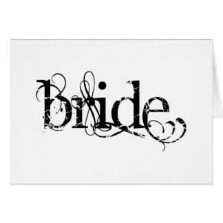 Classy Grunge Wedding - The Bride - B&W Card