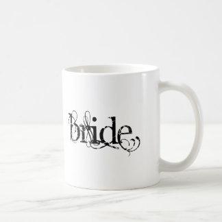 Classy Grunge Wedding - The Bride - B&W Coffee Mug