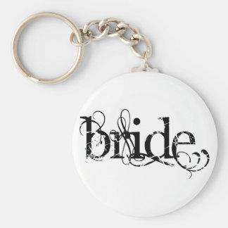 Classy Grunge Wedding - The Bride - B&W Keychain