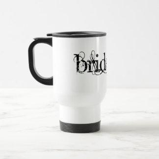 Classy Grunge Wedding - The Bride - B&W Travel Mug