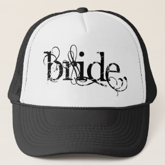 Classy Grunge Wedding - The Bride - B&W Trucker Hat