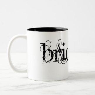 Classy Grunge Wedding - The Bride - B&W Two-Tone Coffee Mug