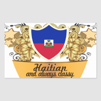Classy Haitian Rectangular Sticker
