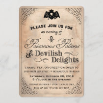 Classy Halloween Vintage Devilish Delights Invite