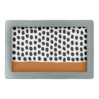 Classy Handpainted Polka Dots with Autumn Maple Belt Buckle
