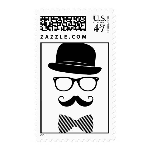 Classy hipster postage stamp