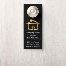 Classy Home Services Business Door Hanger Design