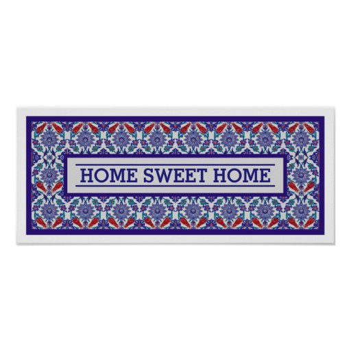 Classy Home Sweet Home Decor Poster Zazzle