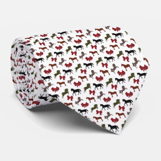 classy Horses  and Bows Pattern Custom Neck Tie