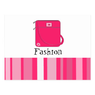 Classy Hot Pink Handbag with Saying Postcard