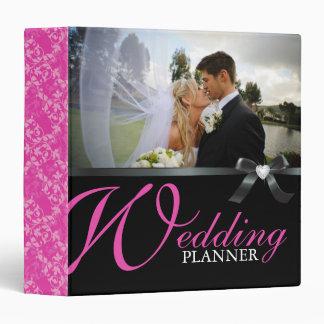 """Classy Hot Pink Wedding Planner"" Binder"
