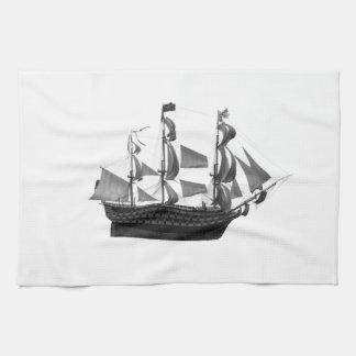 Classy impressive vintage ancient ship kitchen towel