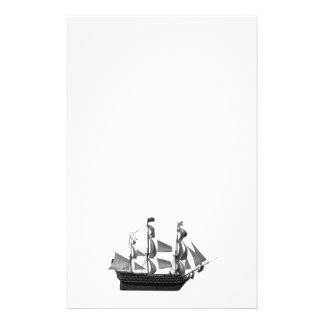 Classy impressive vintage ancient ship stationery