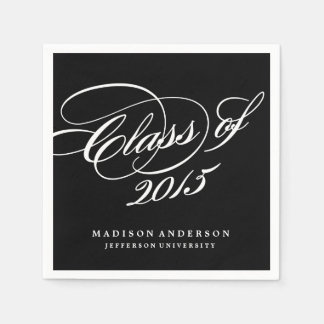 Classy in Black | Personalized Paper Napkins