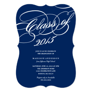 Classy in Navy | Graduation Invitation
