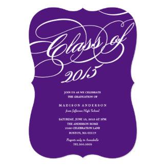 Classy in Purple | Graduation Invitation
