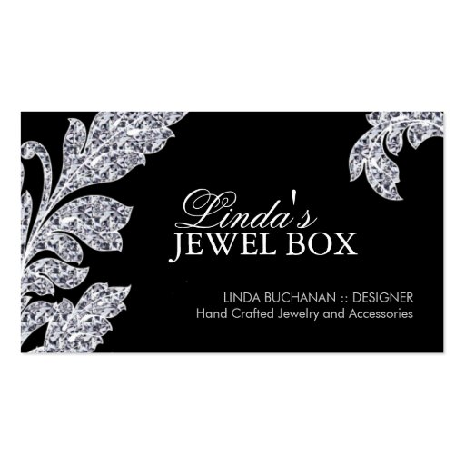 classy jewelry designer business cards created by colourful designs ...: www.zazzle.com/classy_jewelry_designer_business_cards...
