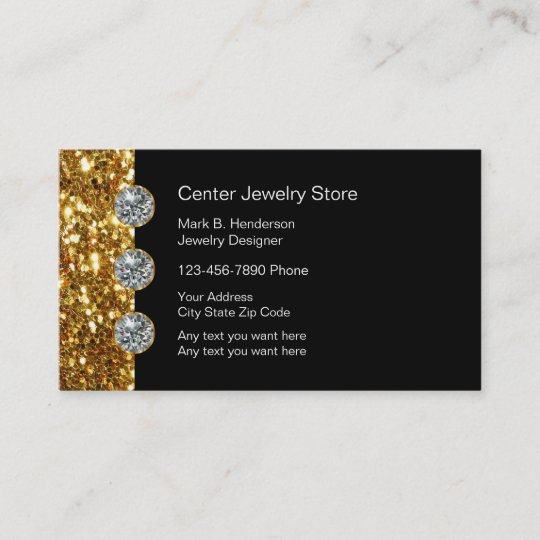 Classy jewelry store business card zazzle classy jewelry store business card reheart Gallery