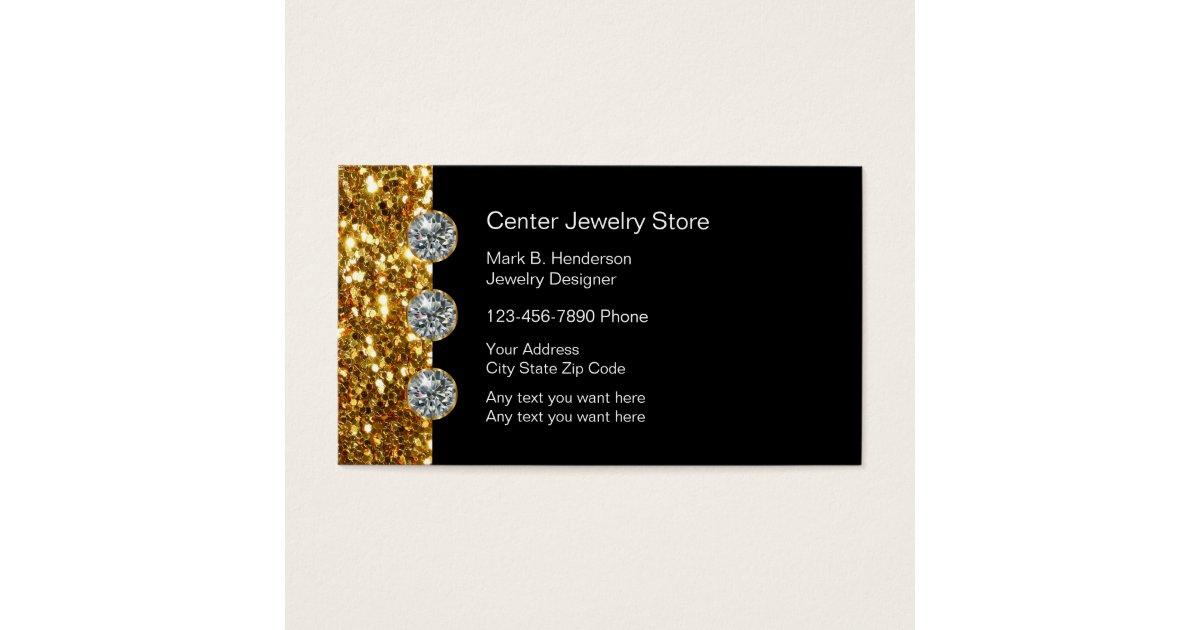 Classy Jewelry Store Business Card | Zazzle.com