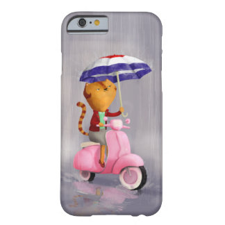 Classy Kitty Cat on pink scooter Barely There iPhone 6 Case