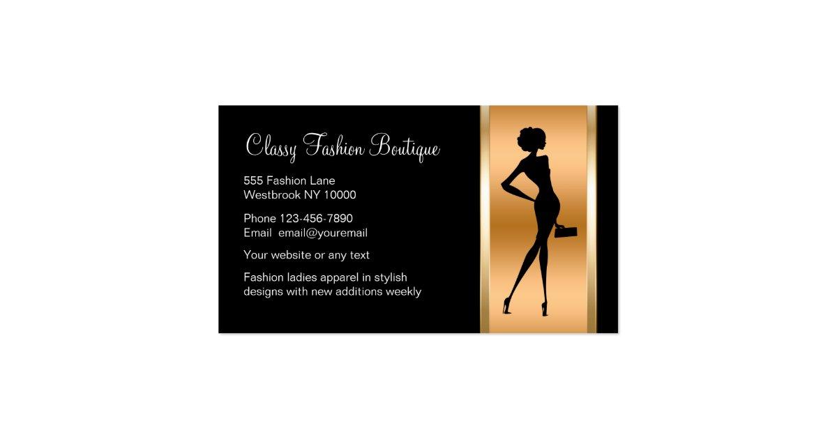 Classy Ladies Fashion Boutique Business Card Zazzle