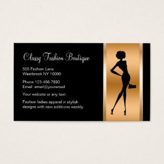 Boutique business cards templates zazzle for Business card for clothing boutique