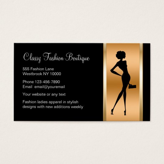 Clothing Store Business Cards & Templates | Zazzle