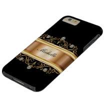 Classy Ladies Monogram Bling Tough iPhone 6 Plus Case