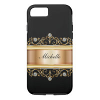 Classy Ladies Monogram Bling iPhone 7 Case