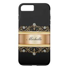 Classy Ladies Monogram Bling iPhone 7 Plus Case at Zazzle