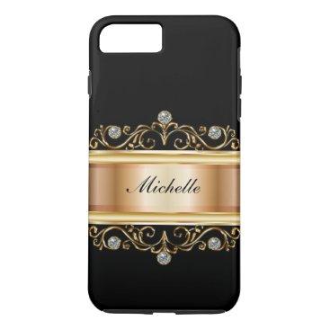 idesigncafe Classy Ladies Monogram Bling iPhone 8 Plus/7 Plus Case