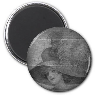 Classy Lady 2 Inch Round Magnet