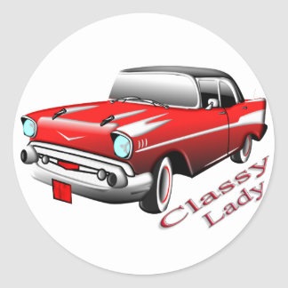 Classy Lady Classic Round Sticker
