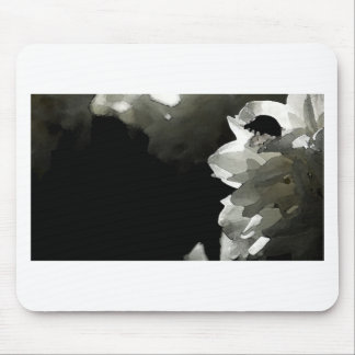 Classy Ladybug sillouette card Mouse Pad
