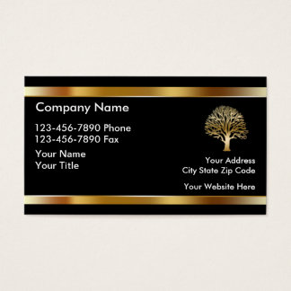 Classy Landscaping Business Cards