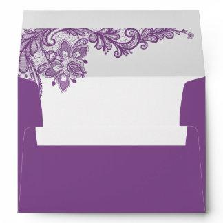 Classy Lavender Purple Lace | 5 x 7 Mailing Envelope
