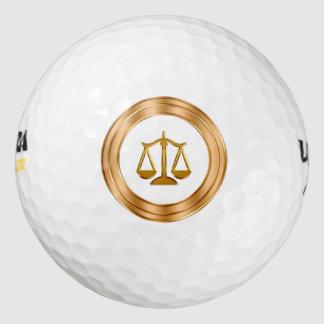Classy Lawyer Theme Golf Balls