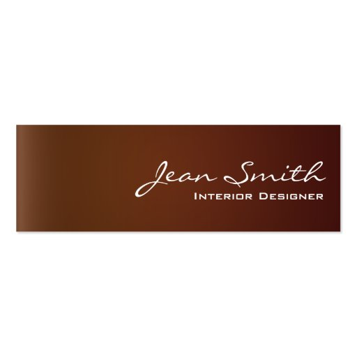 Classy Leather Interior Design Mini Business Card