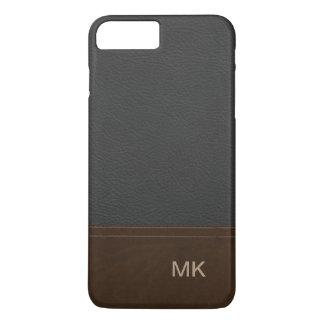 Classy Leather Look Mens Monogram iPhone 8 Plus/7 Plus Case