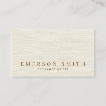 Classy light gray faux linen trendy minimalist business card