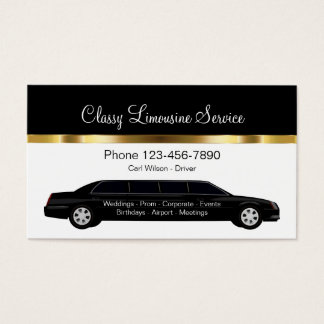 Classy Limousine Chauffeur  Service Business Card