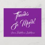 "[ Thumbnail: Classy & Luxurious ""Thanks So Much!"" Postcard ]"