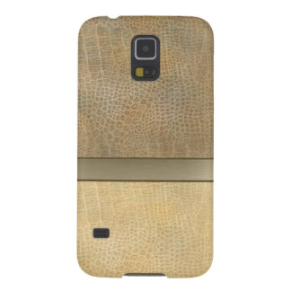 Classy luxury  leather look  personalized No.1 Galaxy S5 Cover