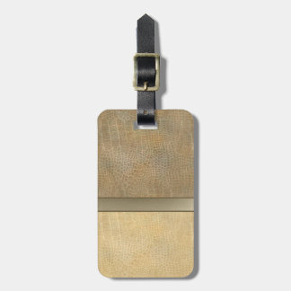 Classy luxury  leather look  personalized No.1 Bag Tag