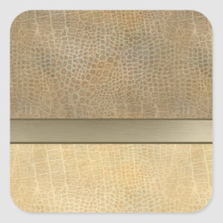 Classy luxury  leather look  personalized No.1 Square Sticker