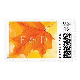 Classy Maple Leaf Custom Fall Wedding Stamps